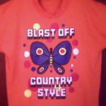 Blast Off Country Style butterfly tee-shirt