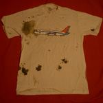 Evelyn Hurley Air Miami shirt blood