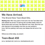 Teen-Beat Newsletter issue 86