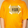 Teen-Beat tee-shirt with metalllic gold ink t-shirt