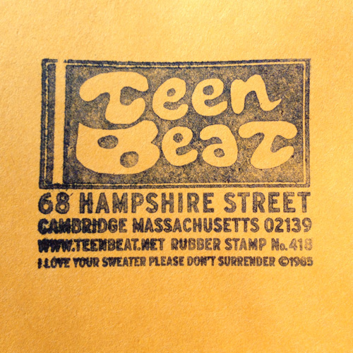 Teen Beat 418 Teen Beat Rubber Stamp