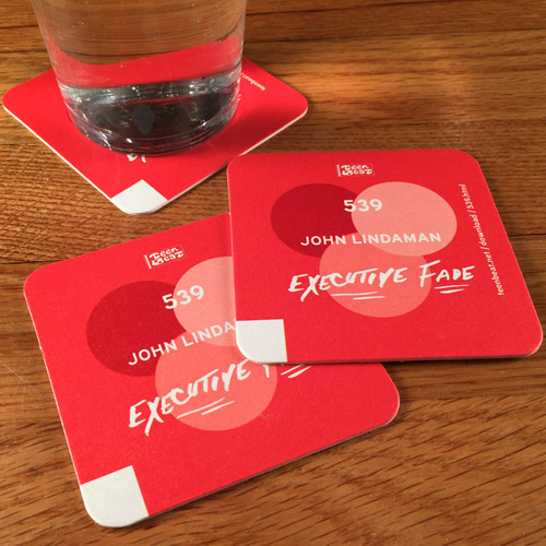 JOHN LINDAMAN Executive Fade drink coasters